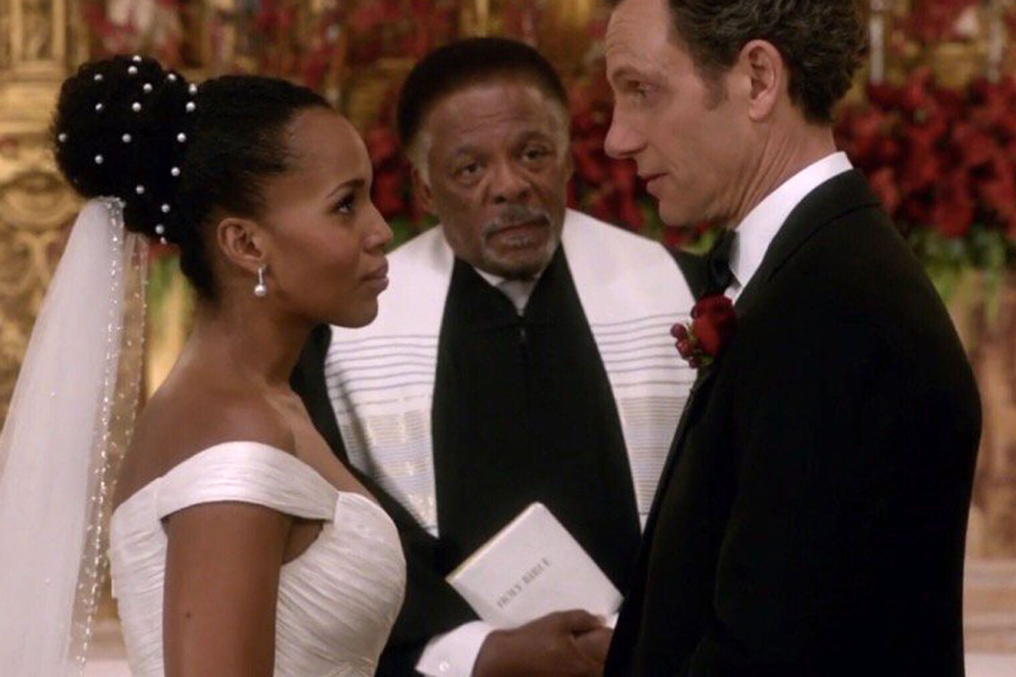 Olivia Pope wedding dress Scandal  Credit: ABC